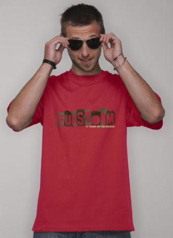 tričko pánské FUNSTORM - Cobbles - 24 RED