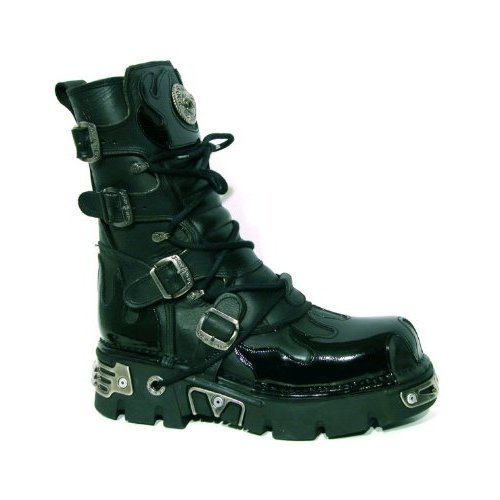 Boty New rock - Flame Boots PVC (591-S4) Black