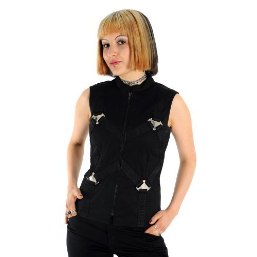 vesta dámské - Metal Top Denim Black - ADERLASS - A-4-05-001-00