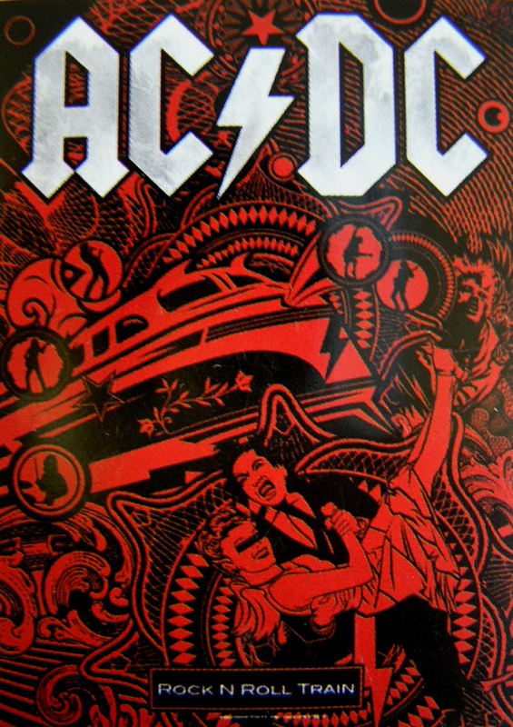 vlajka ACDC - Rock'n Roll Train - HFL0981