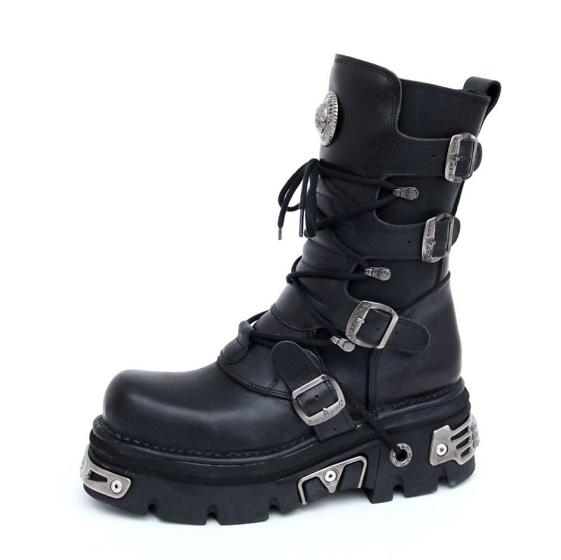 Boty New rock - Basic Boots (373-S4) Black - N-8-02-700-00