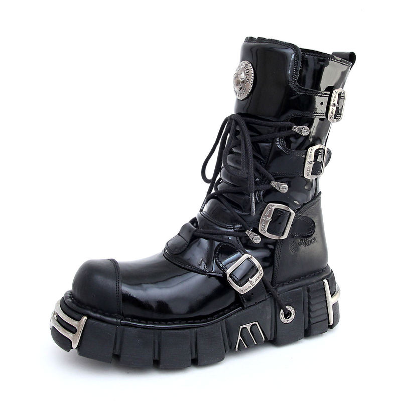 boty New rock - Bizarre Boots (313-S1) Black