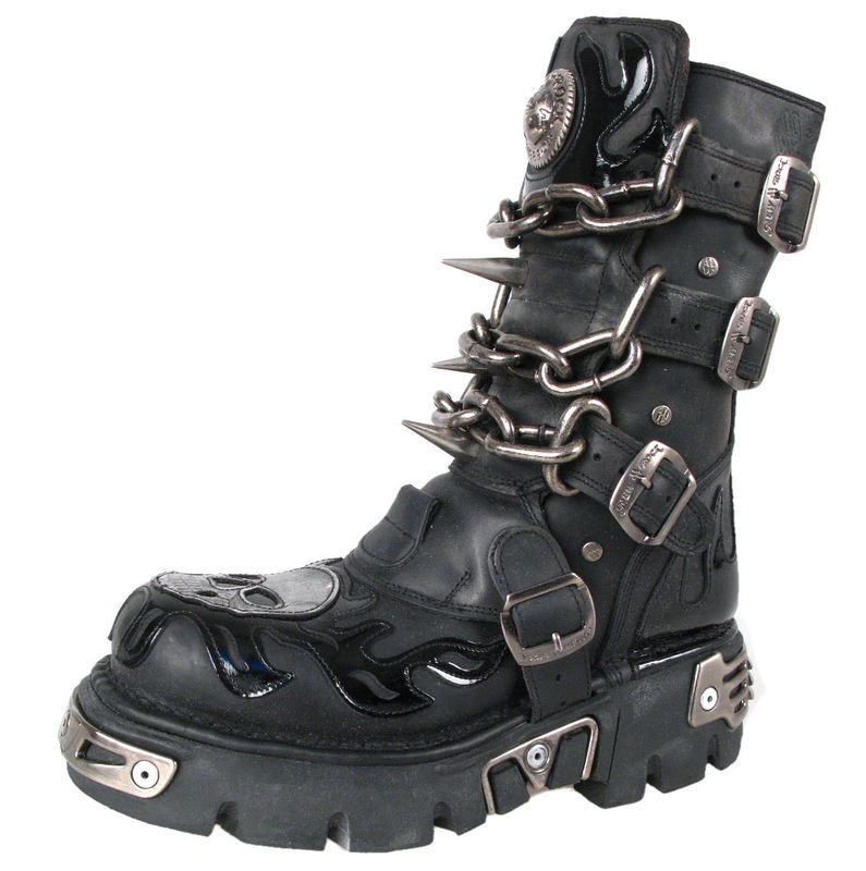 Boty New rock - Chain Boots (727-S1) Black - N-8-06-700-00