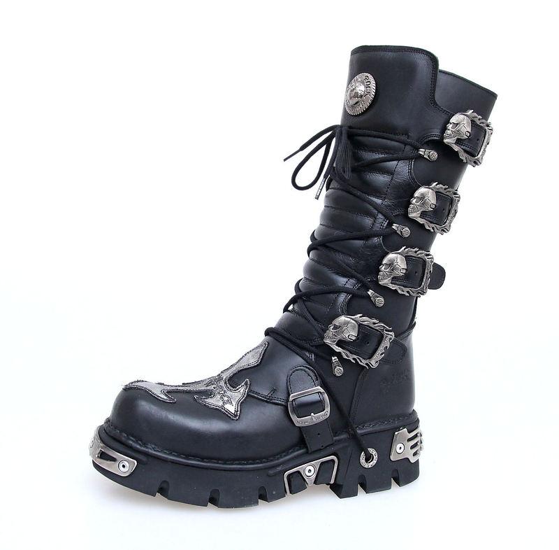 Boty New rock - Cross Boots (403-S1) Black - N-8-09-700-00