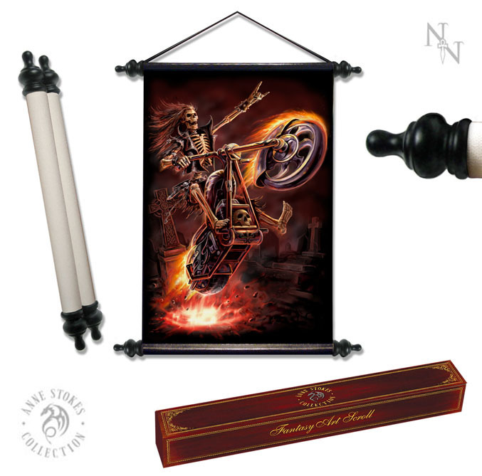 svitek ANNE STOKES Art Scroll Hell Rider - NOW0858,766-8142