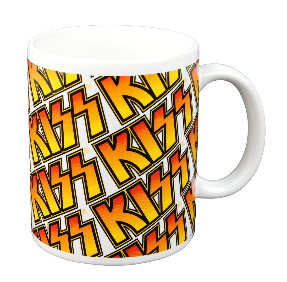 hrnek - KISS - Boxed Mug Kiss (Tiles) - ROCK OFF - KISSMUG01