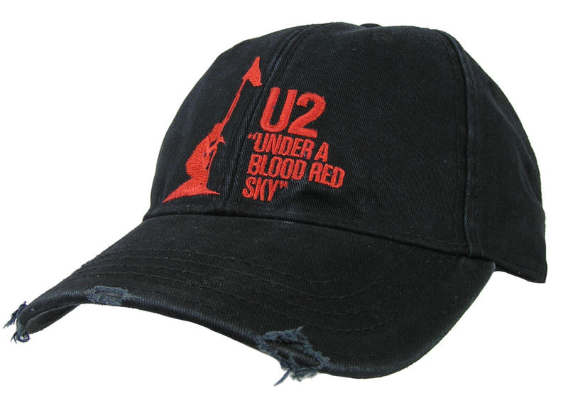 kšiltovka U2 - U2 Baseball Cap Under A Blood Red Sky - ROCK OFF - U2CAP01