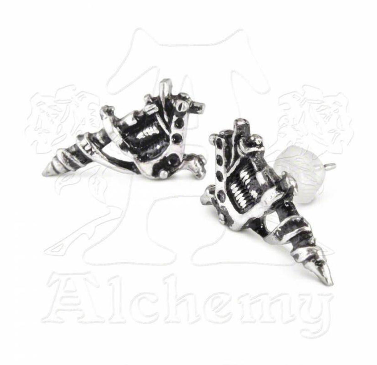 náušnice Tattoo Gun Earrings (pair) - ALCHEMY GOTHIC - ULFE3