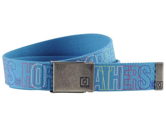 pásek plátěný HORSEFEATHERS - Neon - BLUE
