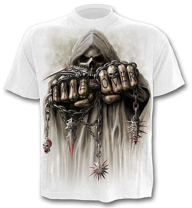 tričko pánské SPIRAL - Game Over - White - T026M113