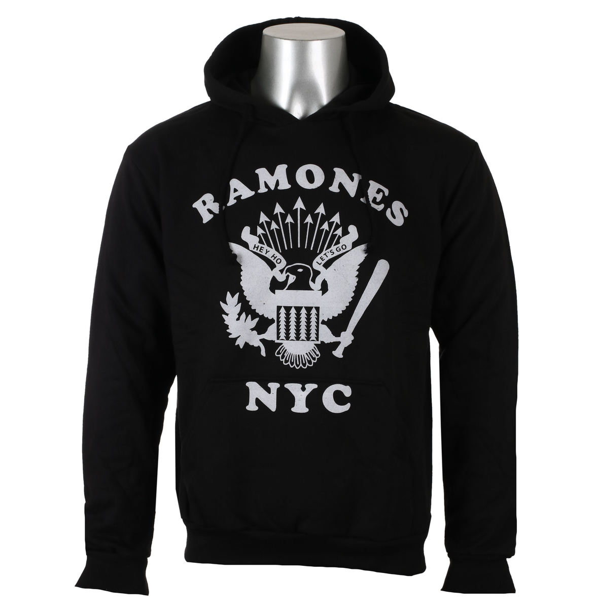 mikina pánská Ramones - Retro Eagle NYC - Black - ROCK OFF - RAHD02MB
