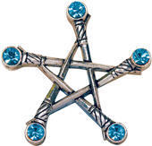 přívěšek Pentagram of Swords - EASTGATE RESOURCE - PR1