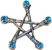 přívěšek Pentagram of Swords