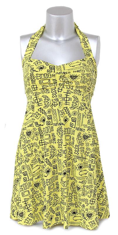 šaty dámské VANS - Street Tags - BRGHT YL XS