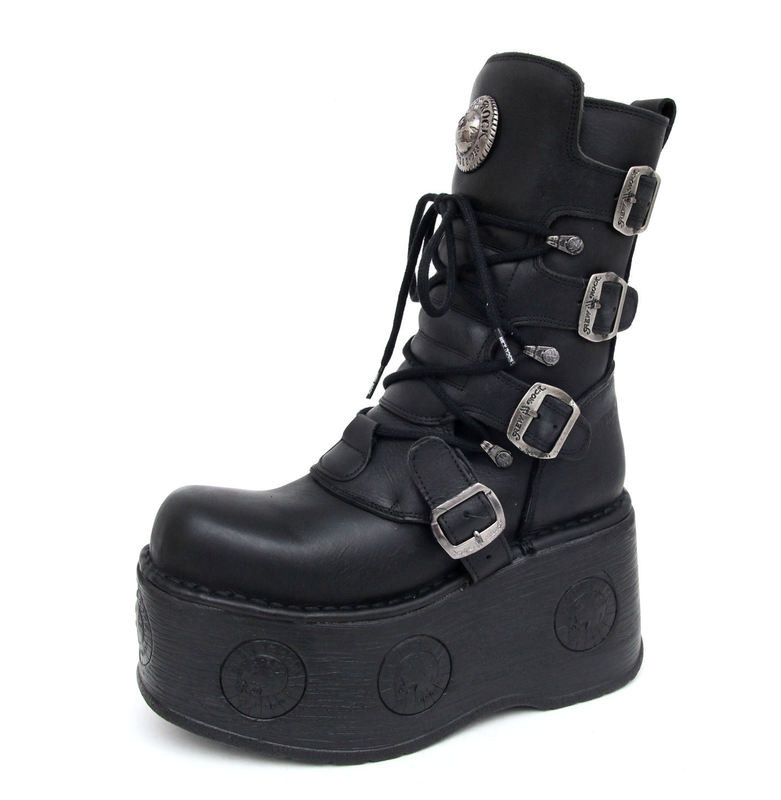 boty NEW ROCK - 1473-S3 - Itali Negro
