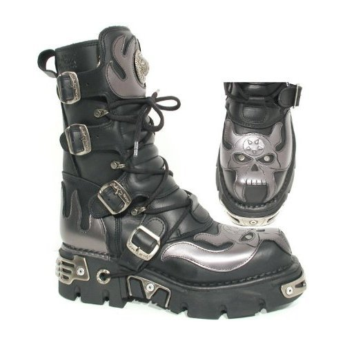 Boty New rock - Vampire Boots (107-S2) Black-Grey - N-8-01-700-08