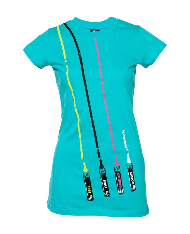 tričko dámské HORSEFEATHERS - Markers - DYNASTY GREEN