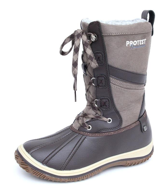 boty dámské zimní PROTEST - Samara - 260 BROWN FABRIC