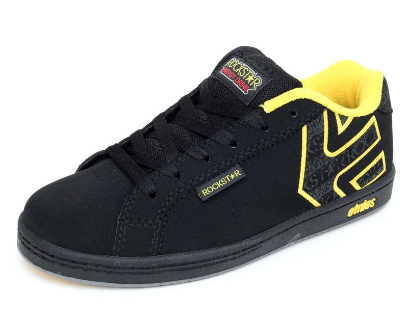 boty dětské ETNIES - Kids Rockstar Fader - BLACK-GREY-YELLLOW