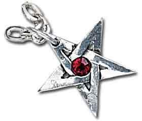obojek Crystal Pentagram - ALCHEMY GOTHIC - P365