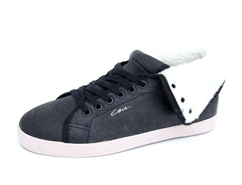 boty dámské -zimní- CIRCA - Natasha High - BLACK-BEIGIE VOOL