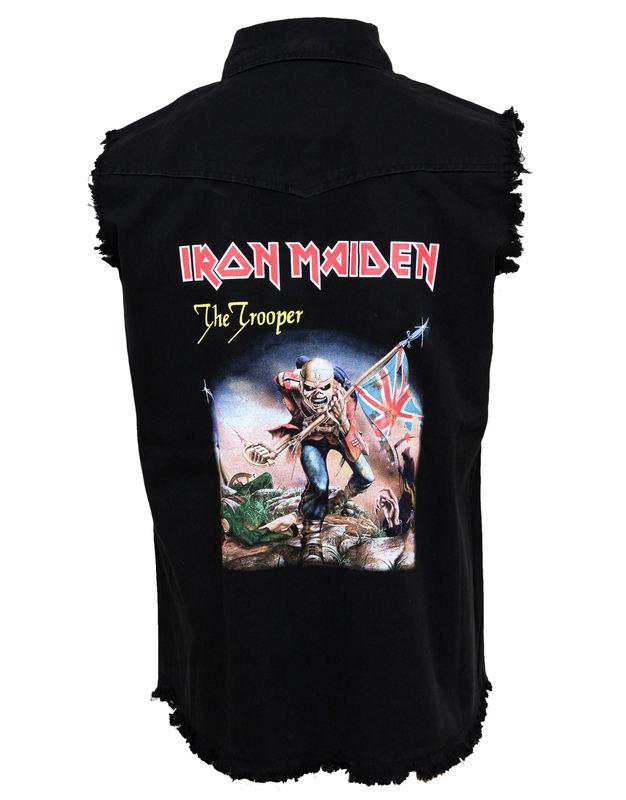 košile pánská bez rukávů (vesta) Iron Maiden - The Trooper - WS029 - RAZAMATAZ