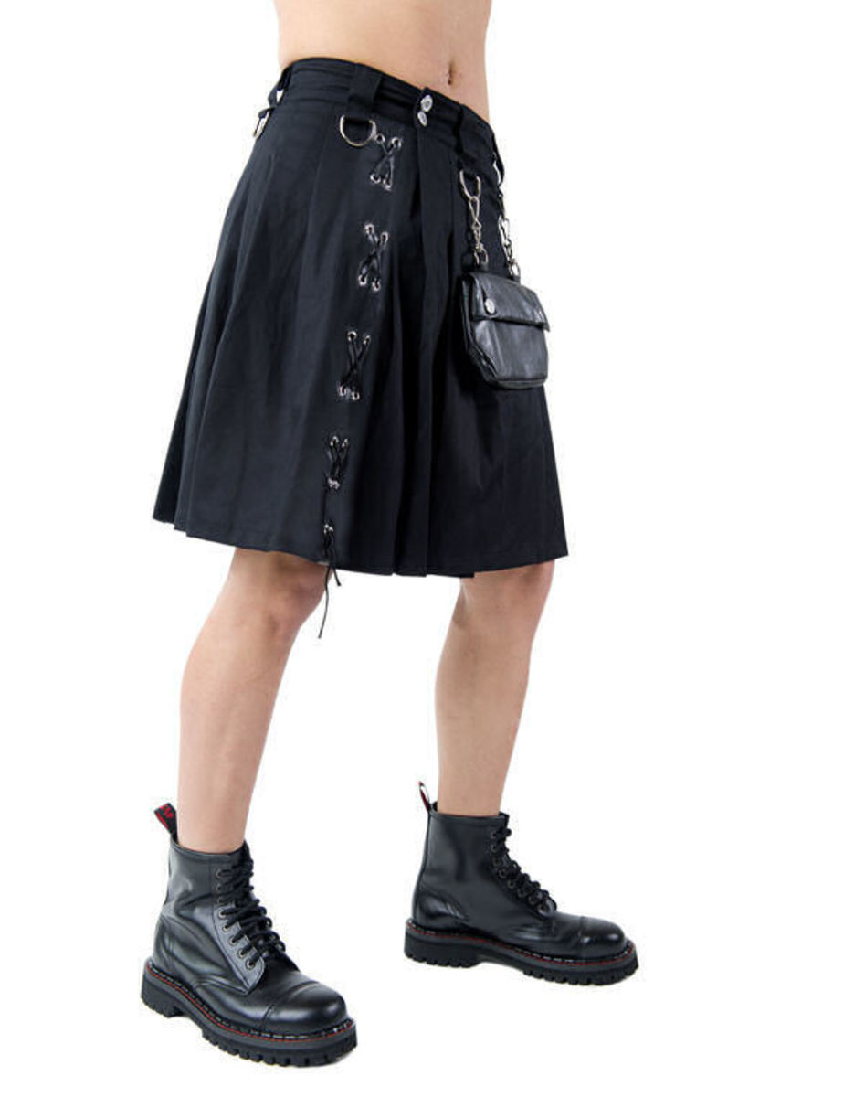 kilt pánský Aderlass - Eye Kilt Denim Black - A-2-90-001-00 XL