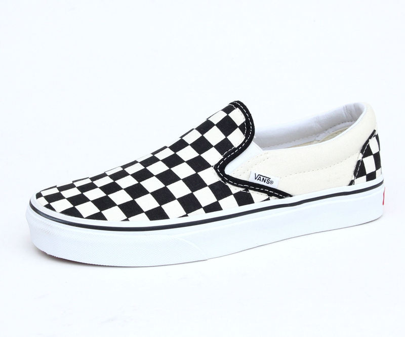 boty VANS - Classic Slip On - Black And White Checker - White - VEYEBWW