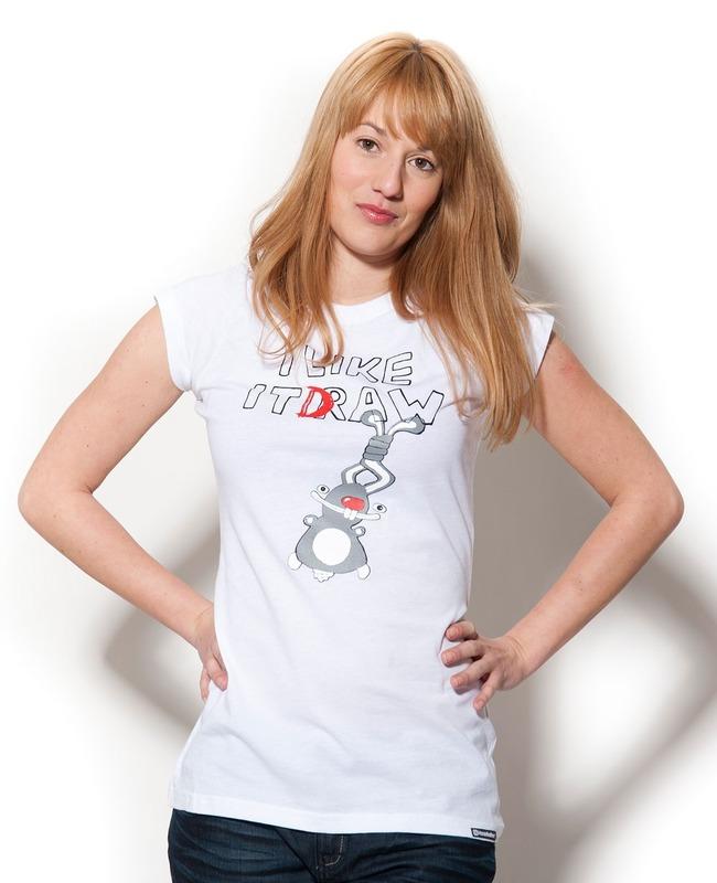 tričko dámské HORSEFEATHERS - I Like It - WHITE