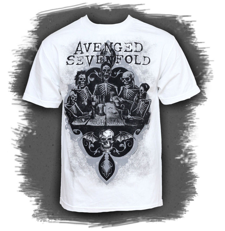 BRAVADO Avenged Sevenfold Bottoms Up bílá