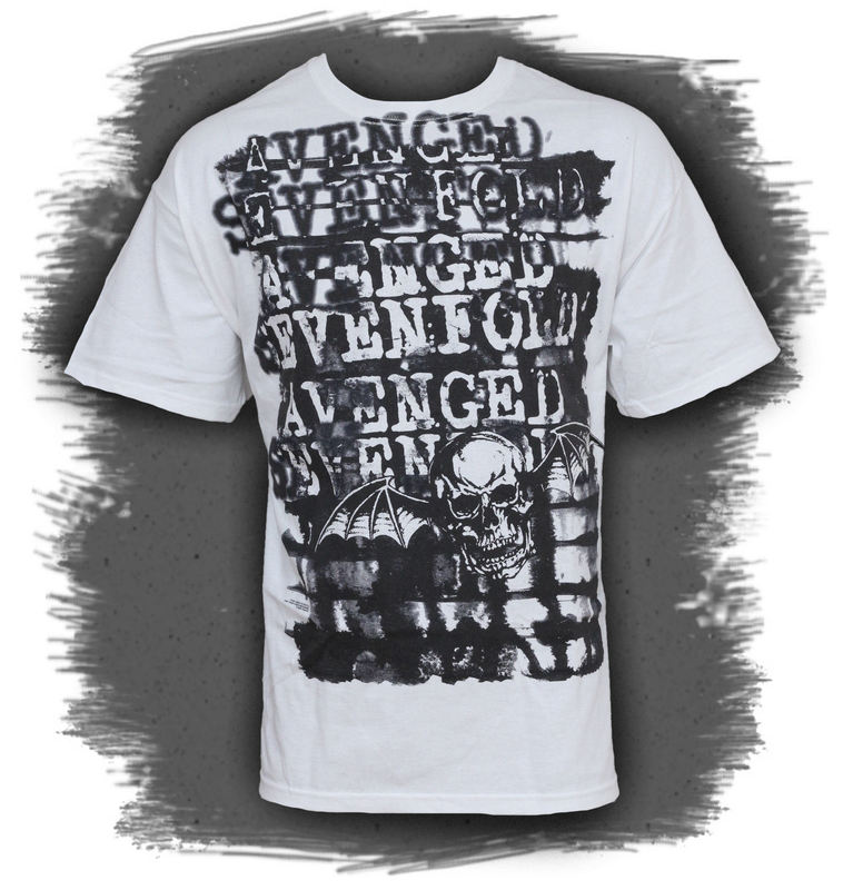 BRAVADO Avenged Sevenfold Ink Stripes bílá