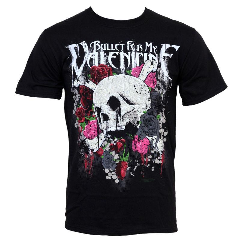 tričko pánské Bullet For My Valentine - Skull And Roses - BRAVADO - BFV1084