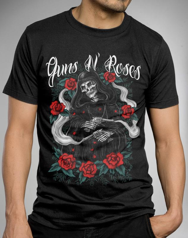 tričko pánské Guns N Roses - Roses Reaper - BRAVADO - 12161311