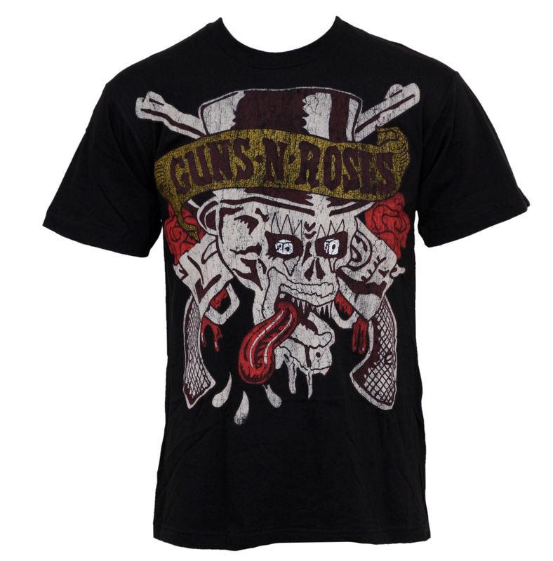 tričko pánské Guns N Roses - Tongue Skull - BRAVADO - 12161157