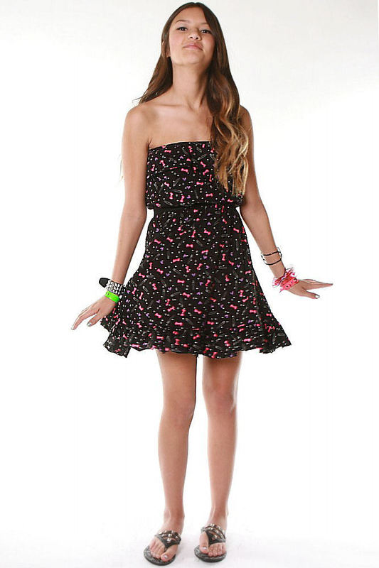 šaty dámské ABBEY DAWN - Push Knit - BLACK M