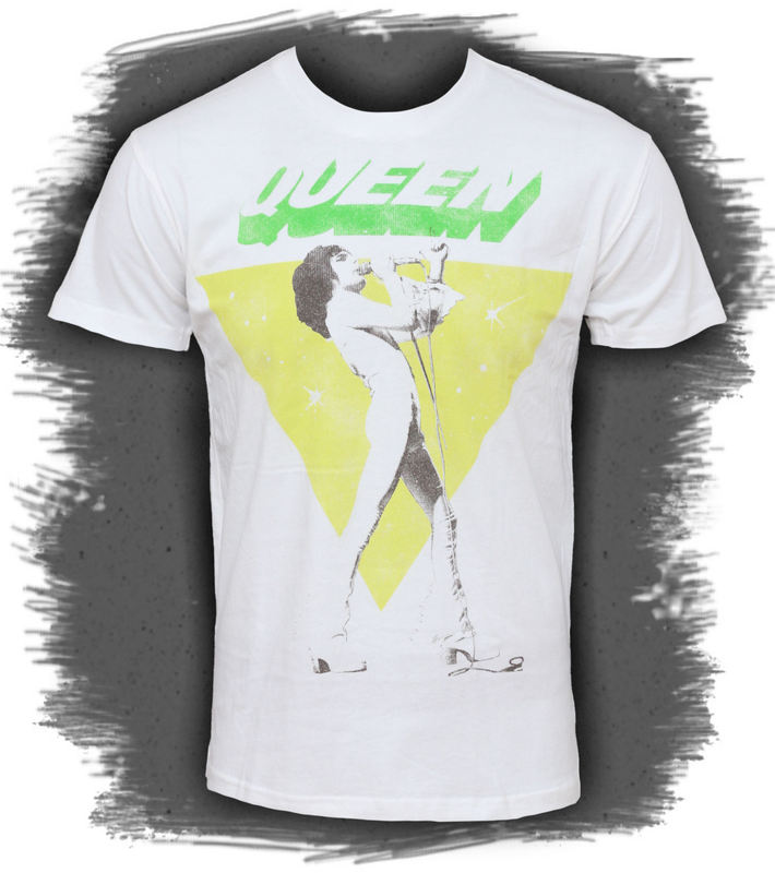tričko pánské Queen - Freddy Sings - BRAVADO - QEN1003