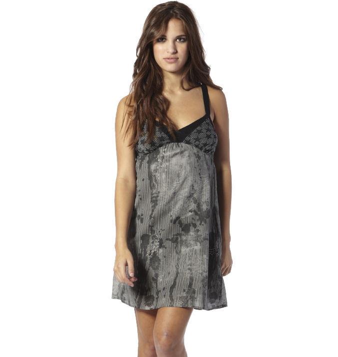 šaty dámské FOX - Rock On Dress - DARK SHADOW XL
