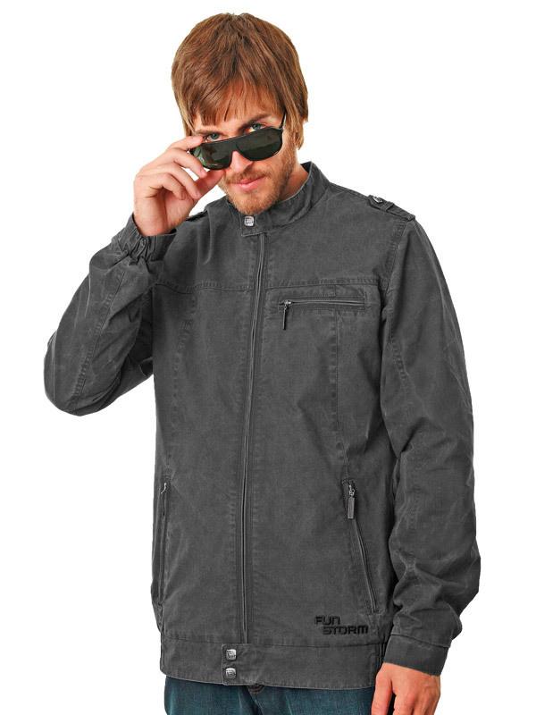 bunda pánská jarně-podzimní -látková- FUNSTORM - Verran - 20 D GREY