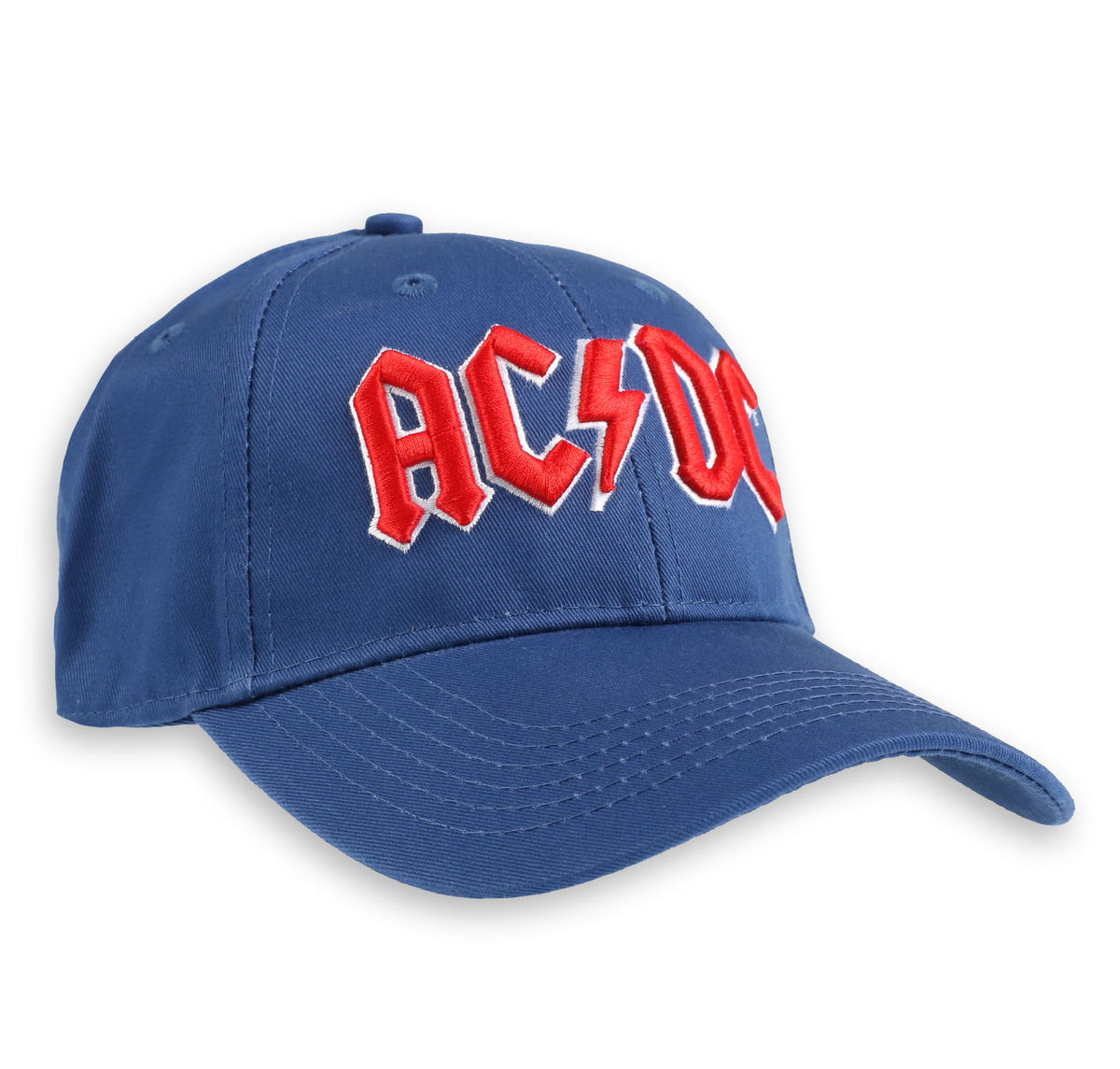 kšiltovka ACDC - Red Logo Mid-Blue - ROCK OFF - ACDCCAP02MBL