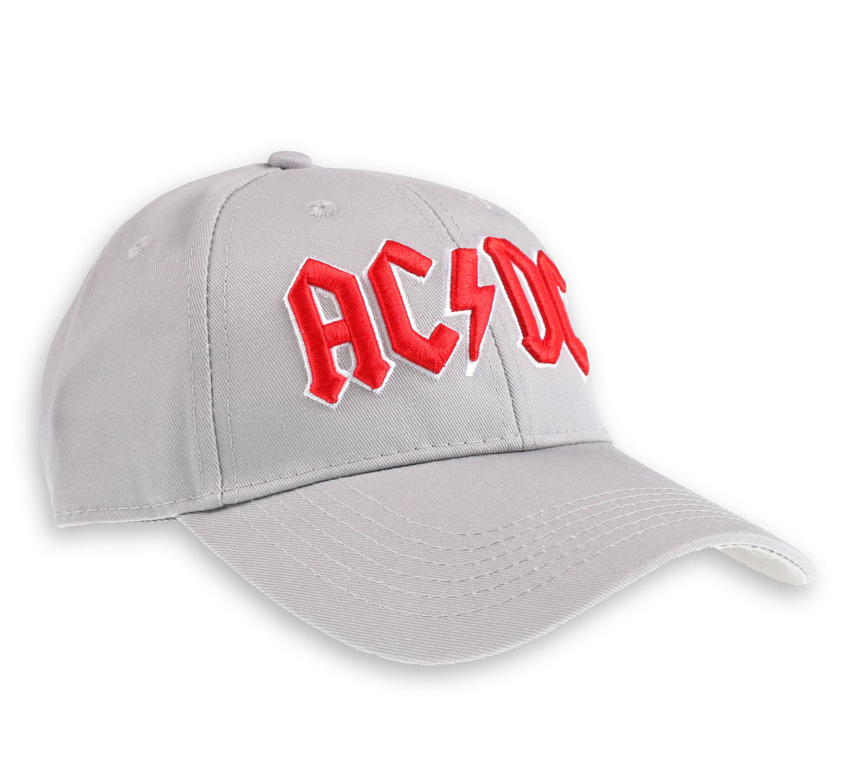kšiltovka ACDC - Red Logo Grey - ROCK OFF - ACDCCAP02G