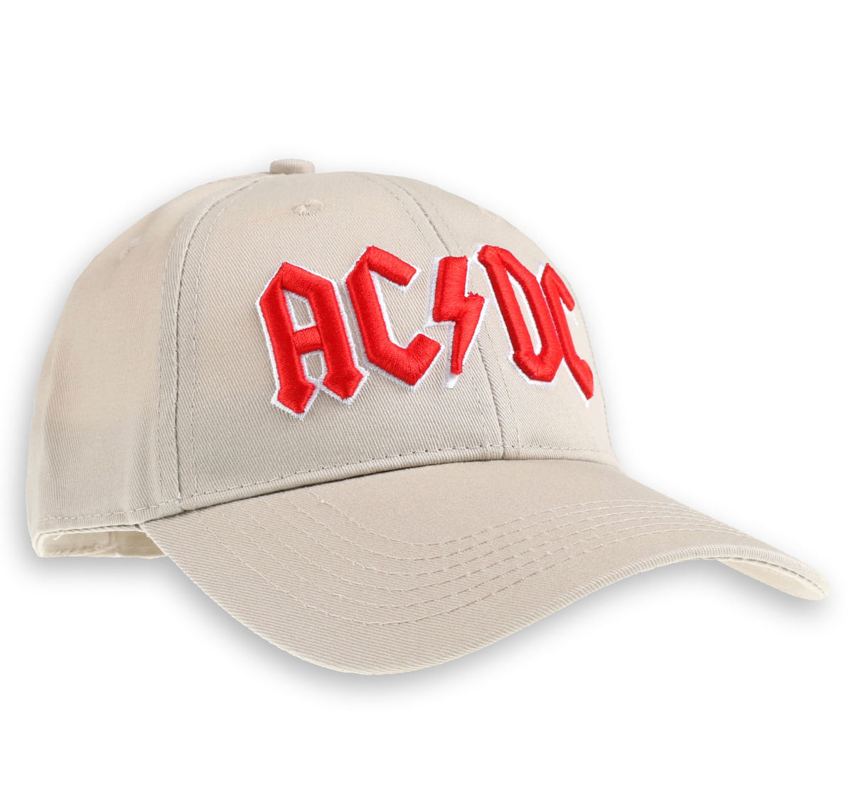 kšiltovka ACDC - Red Logo Sand - ROCK OFF - ACDCCAP02S