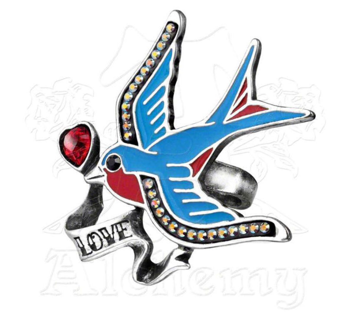 prsten Swallow Love - ALCHEMY GOTHIC - ULFR4 T