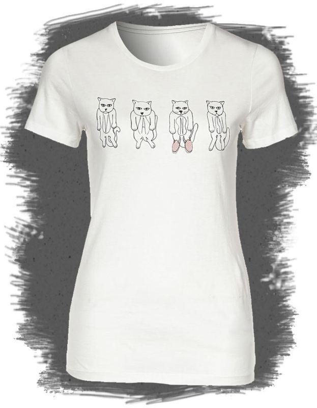 tričko dámské VANS - Quatro Cats - Star White - VQQ74SX
