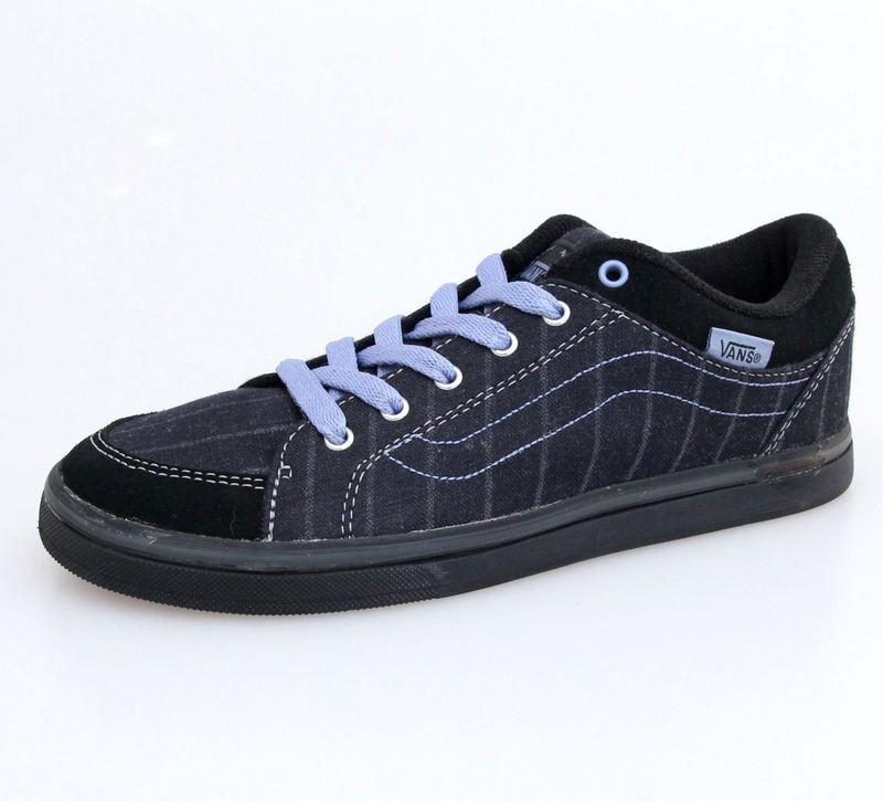 boty dámské VANS - W Skyla - Menswear - BLACK-GREY - VKXK5KE