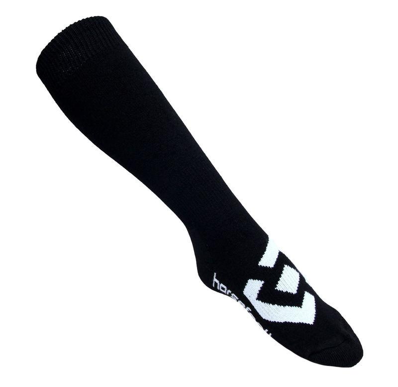 ponožky -podkolenka SNB- HORSEFEATHERS - Loby Snow - BLACK