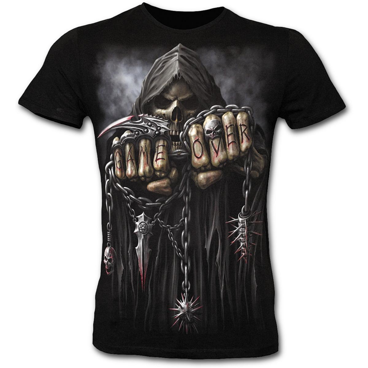 tričko pánské SLIM - SPIRAL - Game Over - Black - T026M118