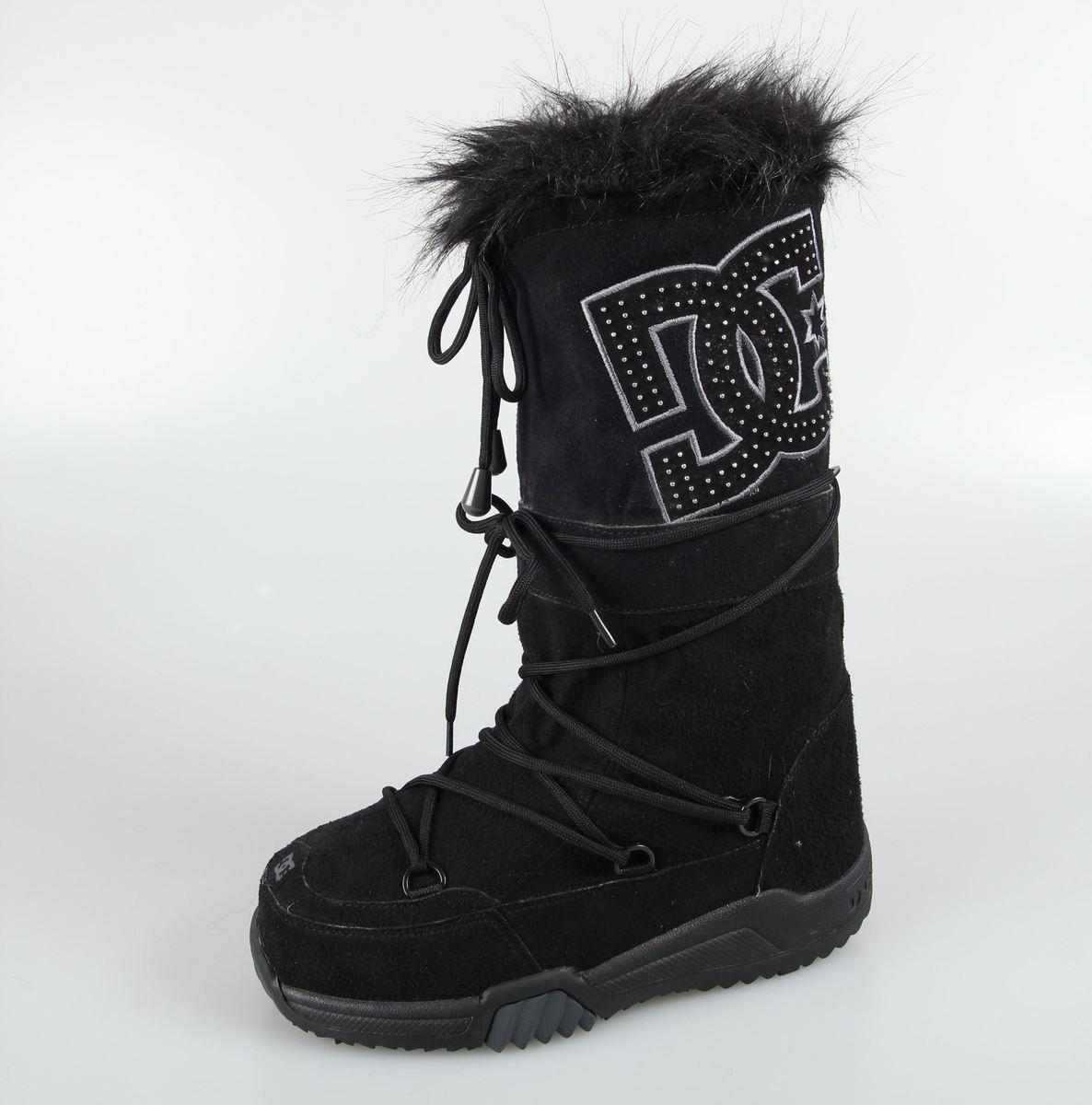 boty dámské zimní DC - Chalet Suede - BLACK-DK SHADOW-BDH