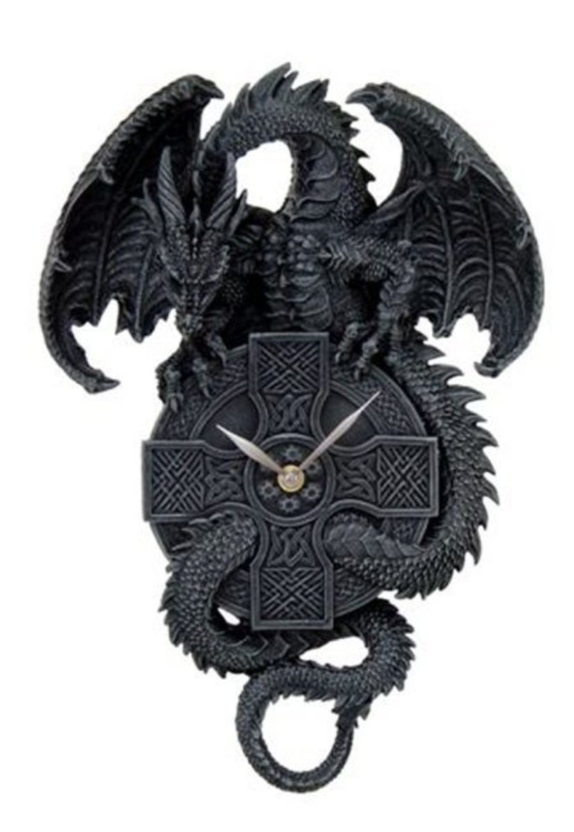 hodiny Dragon Wall Clock - 766-3898