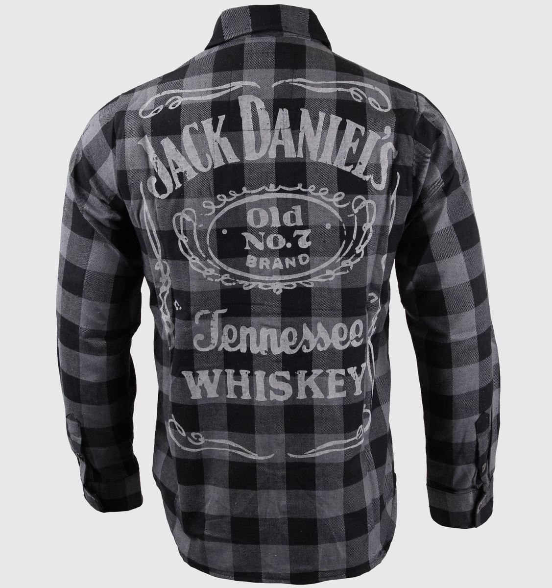 košile pánská s dlouhým rukávem Jack Daniel´s - Black/Grey - BIOWORLD - TS623014JDS