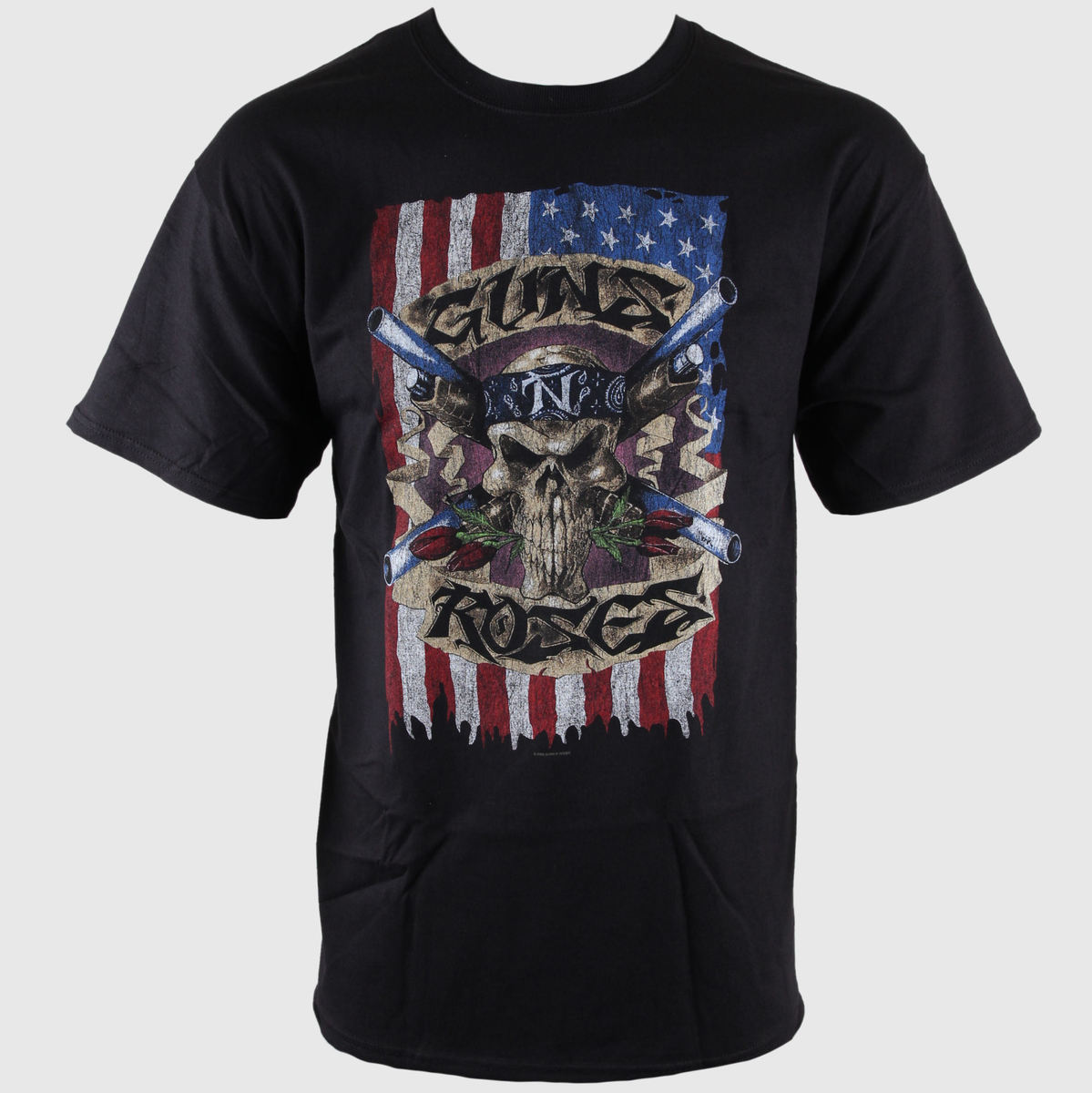 tričko pánské Guns N Roses - Skull Vintage - BRAVADO - GNR1086